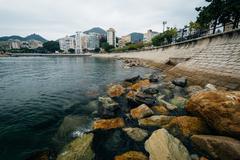 Stock Photo of Rocky coast at Stanley, on Hong Kong Island, Hong Kong.