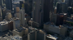 Low, close flight over downtown Dallas, Texas. Shot in 2007. - stock footage