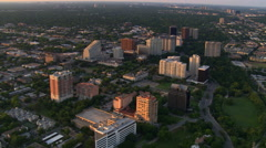 Aerial view of Turtle Creek area north of downtown Dallas, Texas Arkistovideo