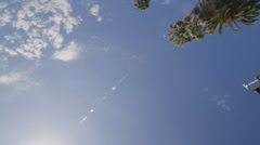 Reflection Plate of a Driving Plate: This view shows only the sky and objects Stock Footage