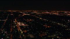 Night flight over suburbs of Dallas, Texas Arkistovideo