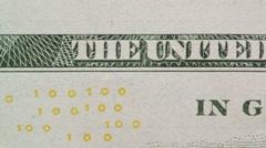 American Dollar Bill - Slogan Stock Footage