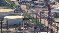 Orbiting oil refinery Stock Footage