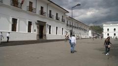 Parque Caldas in colonial city Popayan Stock Footage