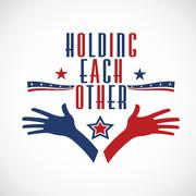 American Holding each other. Political concept Stock Illustration