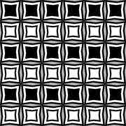 Fun pattern with alternate black and white irregular geometric shapes - stock illustration