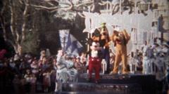 1979: Disneyland 25th anniversary parade mickey mouse goofy pluto. Stock Footage