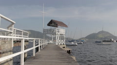 Old sailing club jetty Stock Footage
