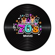 70s Music discography. Vector Illustration Stock Illustration