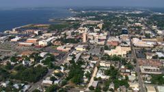 Wide view of Pensacola, Florida, to Pensacola Bay. Shot in 2007. Stock Footage