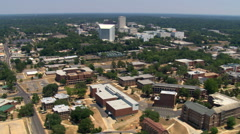 Aerial over downtown Tallahassee, Florida. Shot in 2007. Stock Footage