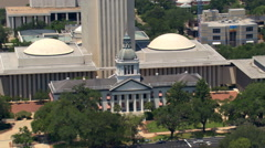Aerial view of the Florida State Capitol building in Tallahassee. Shot in 2007. Stock Footage