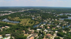Flight over small town of Crystal River, Florida. Shot in 2007. Stock Footage
