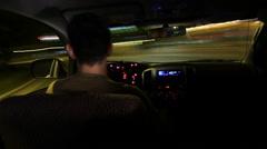 Driving hyperlapse / timelapse inside car Stock Footage