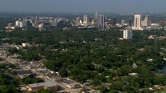 Flight approaching downtown Orlando, Florida. shot in 2007. Stock Footage
