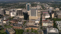 Aerial view of downtown Orlando, Florida Stock Footage