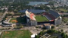Flight over Citrus Bowl Stadium in Orlando, Florida Stock Footage