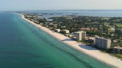 Flight over Longboat Key, Florida Stock Footage
