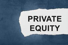 private equity with white paper tears - stock photo