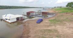 AERIAL OF LAGO DO MANSO, MATO GROSSO, BRASIL - stock footage