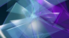Background of multicolored translucent triangles - stock footage