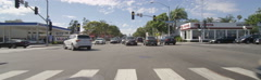 Front view of a Driving Plate: Car traveling on Lincoln Boulevard turns left Stock Footage