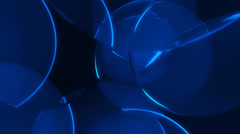 Background of overlapping translucent blue disks Stock Footage