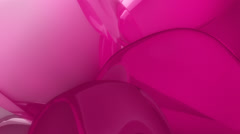Background of distorted pink balloons Stock Footage