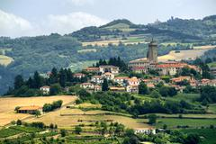 Stock Photo of Langhe, landscape in Piedmont (Italy)