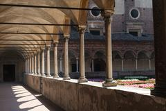 Stock Photo of Certosa of Pavia, cloister