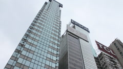 Hong Kong skyscrapers, office buildings Stock Footage