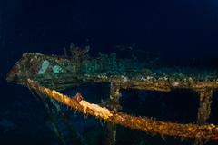 Glassboat wreck - stock photo