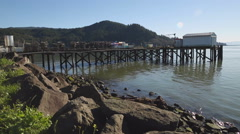 Garibaldi, Oregon, Crab Docks Stock Footage