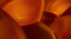 Background of distorted orange balloons - stock footage