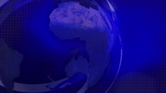 NEWS BACKGROUND FOOTAGE EARTH BLUE Stock Footage