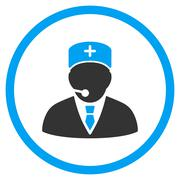 Medical Manager Rounded Icon - stock illustration