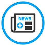 Medical Newspaper Rounded Icon Stock Illustration
