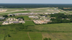 Flight approaching Baton Rouge Airport in Baton Rouge, Louisiana. Shot in 2007. Stock Footage