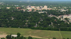 Wide aerial view of Lafayette, Louisiana. Shot in 2007. Stock Footage