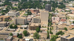 High view over downtown Lafayette, Louisiana; links with GCC115 & GCC117. Shot Stock Footage