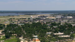 Flight past Keesler Air Force base near Biloxi, Mississippi. Shot in 2007. - stock footage