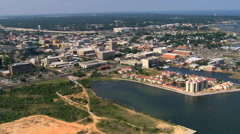 Wide view of Pensacola, Florida, from waterfront. Shot in 2007. Stock Footage