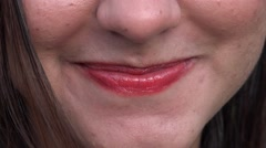 Woman With Lipstick Close Up Arkistovideo