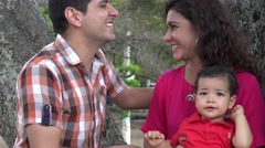 Excited Couple With Baby Boy Stock Footage