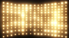 Wall of Yellow Lights - stock footage