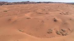 Fast flight over dunes in Arizona's Little Capitan Valley Stock Footage