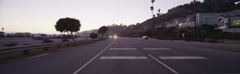 Rear view of a Driving Plate: Car travels south on Highway 1 in Santa Monica, Stock Footage