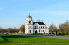 """Memorial complex """"Brest Fortress Hero"""". Church house early XX century Stock Photos"""