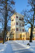 Tower of the Palace of Rumyantsev-Paskevich, Gomel, Belarus - stock photo