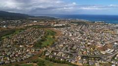 Panorama of Kahului, Hawaii. Shot in 2010. Stock Footage